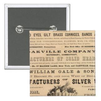 Waterbury Hook y Eye Company Pin Cuadrada 5 Cm