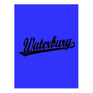 Waterbury script logo in black post cards