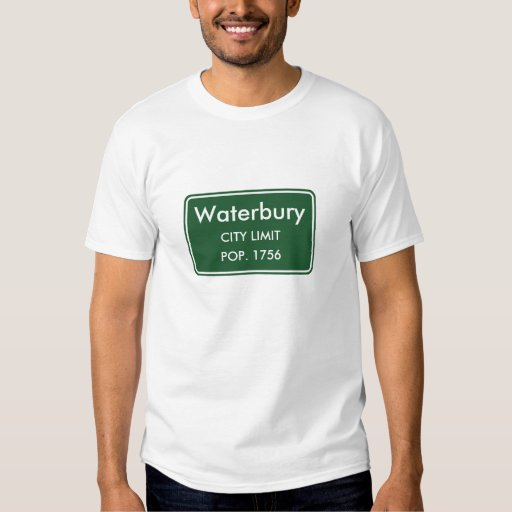 Waterbury Vermont City Limit Sign T-shirts