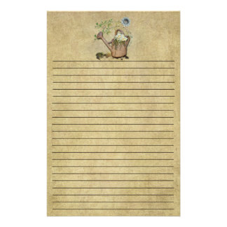 Watercan & Garden Things-1- Lined Stationery