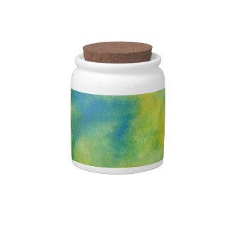 Watercolor 12 Decorative Corked Jar