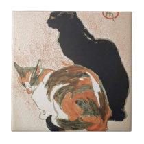 Watercolor - 2 Cats - Théophile Alexandre Steinlen Ceramic Tile
