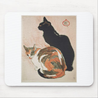 Watercolor - 2 Cats - Théophile Alexandre Steinlen Mouse Pad