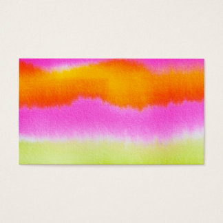 watercolor-386191  HOT PINK ORANGE STRIPES TYE-DYE Business Card