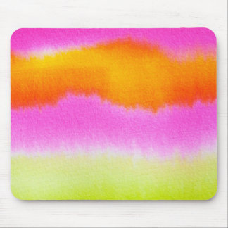 watercolor-386191  HOT PINK ORANGE STRIPES TYE-DYE Mouse Pad