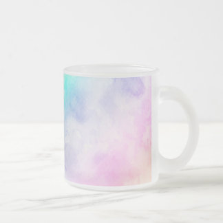 Watercolor Abstract Art Frosted Glass Coffee Mug