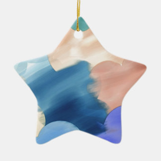 Watercolor Abstract Ceramic Ornament