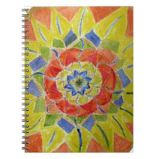 Watercolor Abstract Floral Detail  Notebook