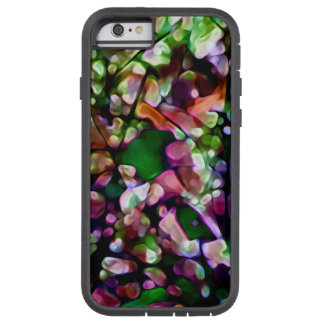 Watercolor abstract green pink orange 6 Tuff Xtrem Tough Xtreme iPhone 6 Case