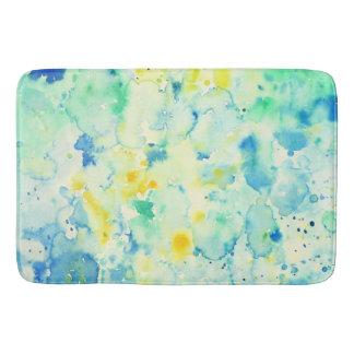 Watercolor abstract green yellow Shower Mat Bathroom Mat