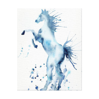 Watercolor Abstract Horse Rearing Print