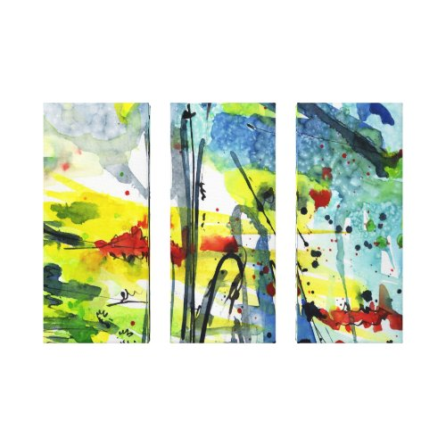 Watercolor Abstract Modern Designs Canvas Ginette wrappedcanvas