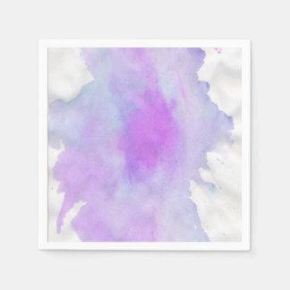 Watercolor abstract modern napkin