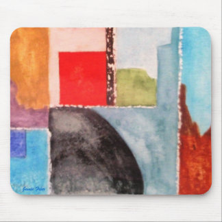 Watercolor Abstract Mouse Pad