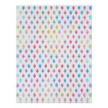 watercolor abstract paint diamond shapes pattern poster