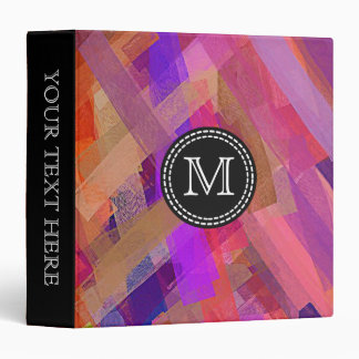 Watercolor Abstract Pattern #7 3 Ring Binder