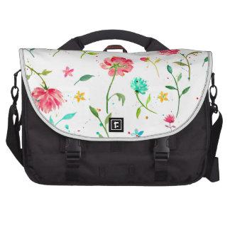 Watercolor Abstract Peony Laptop Shoulder Bag