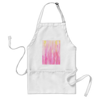 Watercolor abstract pink stripe pattern adult apron