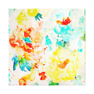 Watercolor Abstract Poppy Canvas Print