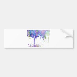 Watercolor Abstract Purple Tree Canopy Bumper Sticker