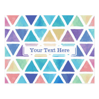 Watercolor Abstract Triangles (Coral Reef Tones) Postcard