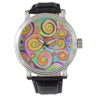 Watercolor Abstract Watch