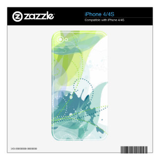 Watercolor Abstract  Zazzle Skin Skin For The iPhone 4
