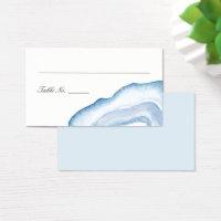 Watercolor Agate Escort Place Cards | Blue