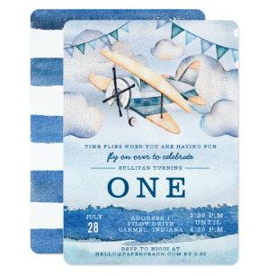 Airplane Birthday Invitations Announcements Zazzle