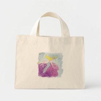 Watercolor Alicorn Pony Winged Horse Mini Tote Bag
