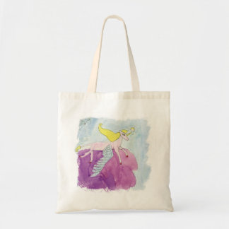 Watercolor Alicorn Pony Winged Horse Tote Bag