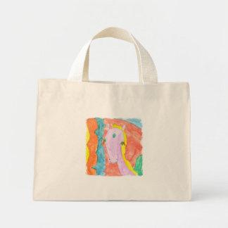Watercolor Alicorn Unicorn Pony Winged Horse Mini Tote Bag