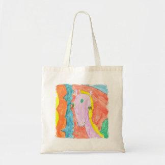 Watercolor Alicorn Unicorn Pony Winged Horse Tote Bag
