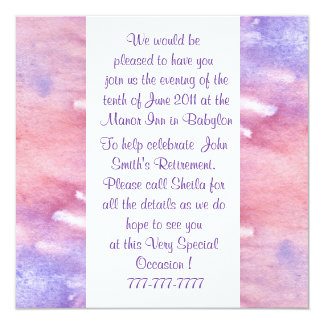 Watercolor All Occasion Invitation