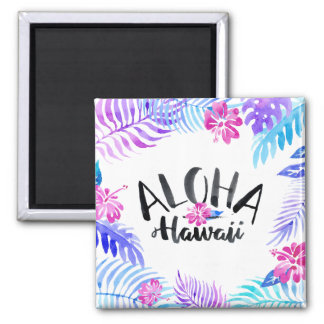 Watercolor Aloha Hawaii Tropical | Magnet