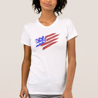 Watercolor American Flag Patriotic Tee Shirts