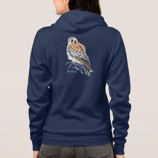 Watercolor American Kestrel Falcon Bird Hawk Hoodie