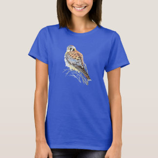 Watercolor American Kestrel Falcon Bird Hawk T-Shirt