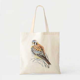 Watercolor American Kestrel, Falcon Bird Hawk Tote Bag