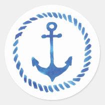 Watercolor Anchor Sticker