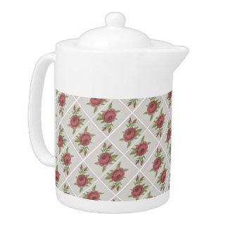 Watercolor And Grey Teapot