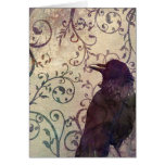 Watercolor and Ink Crow Birthday Card