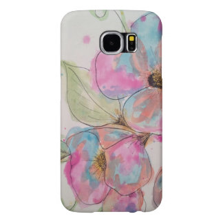 Watercolor and ink flowers samsung galaxy s6 case