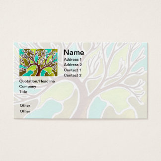 Watercolor and Pen & Ink Tree Business Card