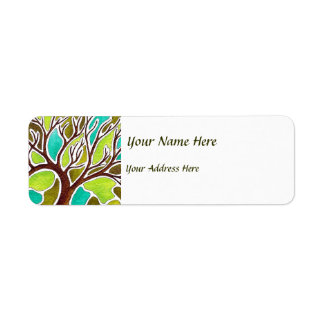 Watercolor and Pen & Ink Tree Label