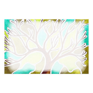 Watercolor and Pen & Ink Tree Stationery