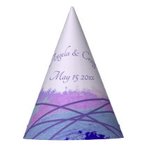 Watercolor and ultraviolet lines, lavender blue party hat