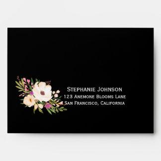 Watercolor Anemone Blooms Envelopes