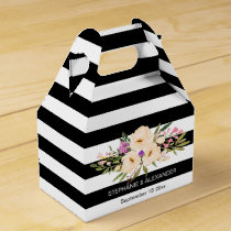 Watercolor Anemone Blooms Personalized Favor Box
