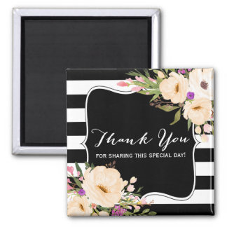 Watercolor Anemone Blooms Thank You Magnet
